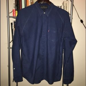 Levi's Mens Concealed Button Long Sleeve Shirt